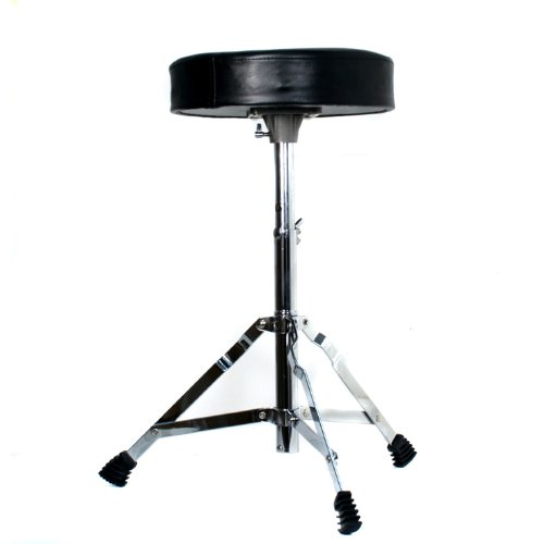 Technote Drum Stool with Padded Seat - Chrome