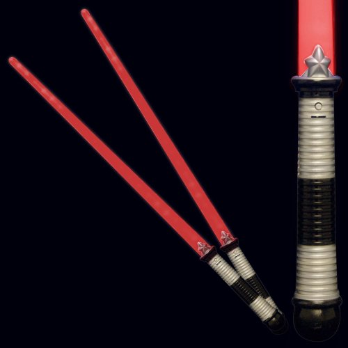 Red Led Light Up Saber Space Weapons (2-Pack)