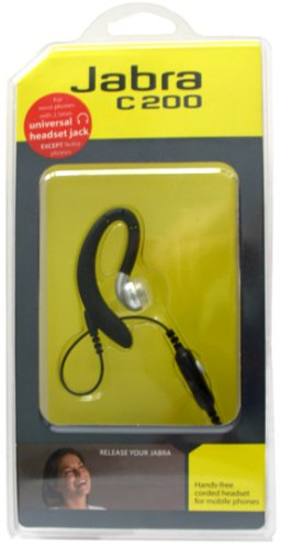 Jabra C200 Corded Headset Standard 2.5Mm With Call Answer End Button