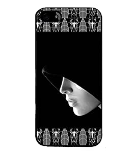 iFasho covered Girl and Spider Back Case Cover for Apple iPhone 5S