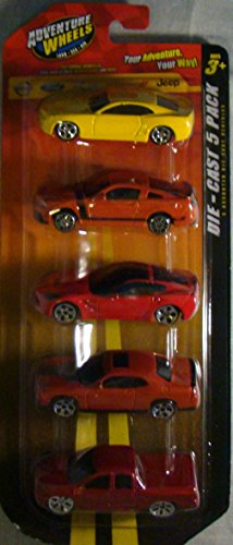 "Maisto Adventure Wheels 3"" Die-cast Vehicles - 5 Pack - 1:55 Scale - ASSORTED"
