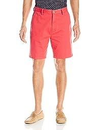 Nautica Men\'s Flat Front Deck Short, Sailor Red, 34W