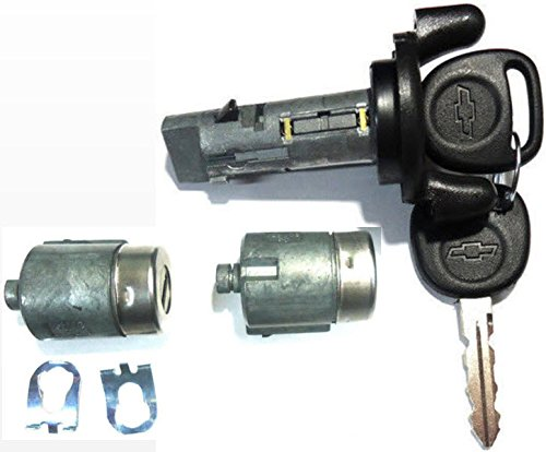 Chevy Ignition Switch Lock Cylinder + Pair (2) Door Lock Cylinder W/2 Logo Keys (Chevy S10 Door Lock Ignition compare prices)