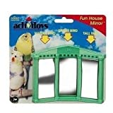 JW Pet Company Activitoy Fun House Mirror Bird Toy for Keets and Tiels