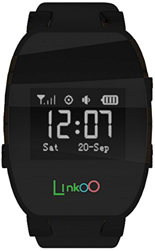 LINKOO Tracker Téléphone Mobile Montre / Bracelet Noir