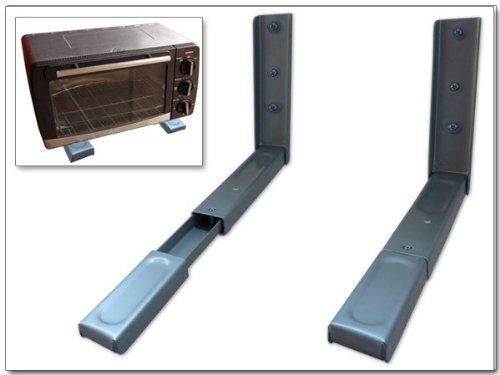 Wandhalterung - MIKROWELLE BLURAY- DVD-PLAYER SATELLITEN RECEIVER HIFI ANLAGE KONSOLE (passt für SAMSUNG PHILIPS SONY LG PANASONIC GRUNDIG ACER THOMSON TELEFUNKEN BLAUPUNKT TOSHIBA - LED LCD TFT Plasma Full-HD 3D Fernseher) - Wandregal Ablage - SILBER - Konsole Player Halterung Wandhalter Regal - Modell: H71S