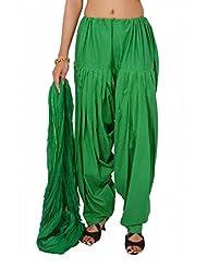 Stylenmart Women Green Patiala Salwar With Dupatta