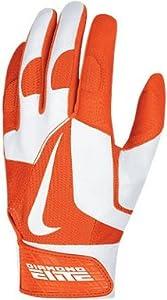 Nike GB0335 Diamond Elite Pro II Batting Gloves - Orange White by Nike