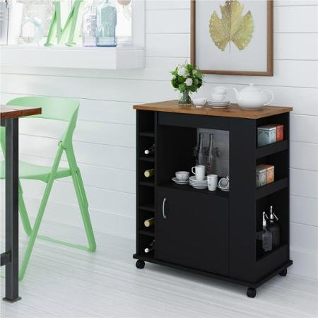 winsome-wood-black-and-pine-kitchen-beverage-cart