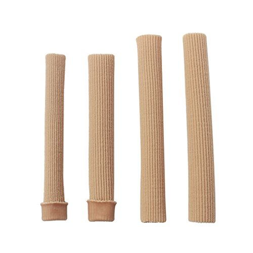 Coyom Toe Tubes - Fabric Sleeve Protectors (4 Pcs) -Prevent Corns, Calluses & Blisters - Immediate and all-day Pain Relief -Latex Free -Available in Pack of 4 - Soft, Comfortable & Convenient to Use
