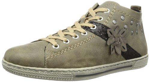Rieker Womens L8434 Boots Beige Beige (steam/schwarz/stein 42) Size: 3.5 (36 EU)