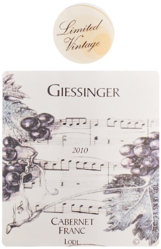 2010 Giessinger Cabernet Franc Private Reserve, Lodi 750 Ml