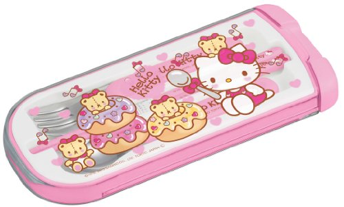 Sanrio Hello Kitty design utensil set (spoon, fork, chopsticks)