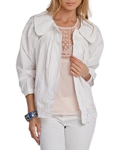 Style NY Women's Eyelet Button Down Jacket  [Grey]
