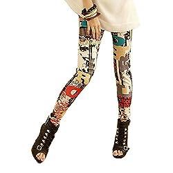 Sxy! Women's Blended Leggings (SXGZ14038_Blue- Green_Small)