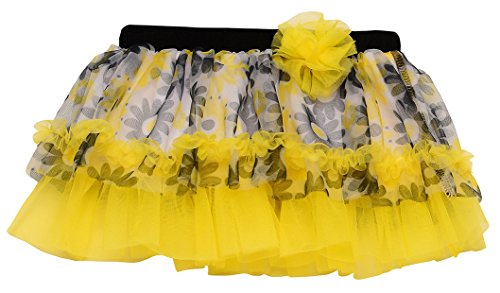 Baby Girl Black and Yellow Daisy Flower Tutu Skirt by Baby Starters
