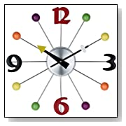 Juggler Ball Clock with Numbering