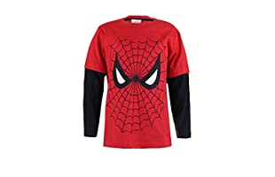 MARVEL Camiseta Manga Larga Spiderman Web (Rojo / Negro)