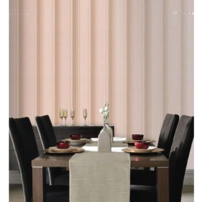 Rockafella Striped Wallpaper Mocha Colour Full Roll from wallpaper heaven