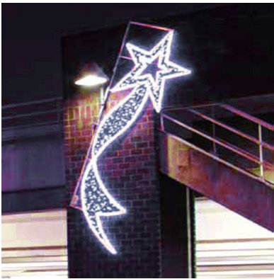 11.5' LED Lighted Chania Star Commercial Christmas Display Decoration
