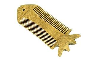 EQLEF® Verde sándalo no peine hecho a mano estática, peine de madera bigote, barba peine de madera, peine de bolsillo   Más información y comentarios de clientes