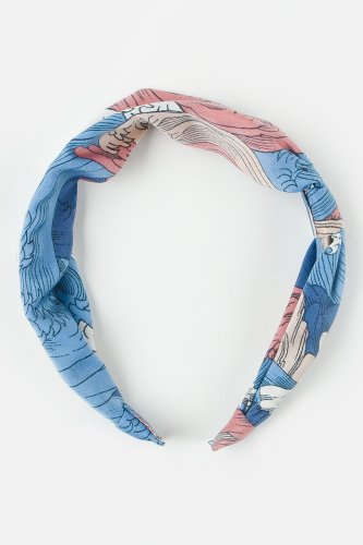 L!VE Women's Twisted Bow Printed Headband