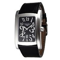 [ロンジン]LONGINES 腕時計 ドルチェビータ ブラック文字盤  革ベルト デイト L5.686.4.57.2 メンズ 【並行輸入品】