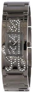 Guess - W12097L2 - Montre Femme - Quartz Analogique - Cadran Noir - Bracelet Acier Noir