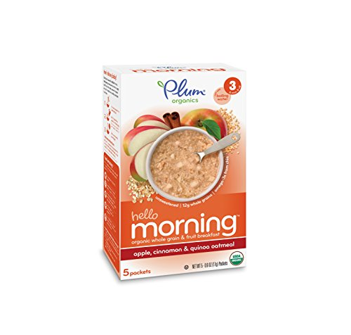 Plum Organics Baby Hello Morning, Apple, Cinnamon and Quinoa Oatmeal, 3 Ounce