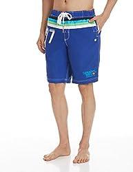 Superdry Men's Synthetic Shorts (5054265253515_M30MP000_Large_Voltage Blue)