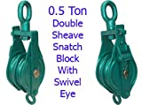 0.5 Ton Double Sheave Snatch Block With Swivel Eye