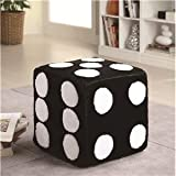Children's Dice Ottoman (Blk & Wht)