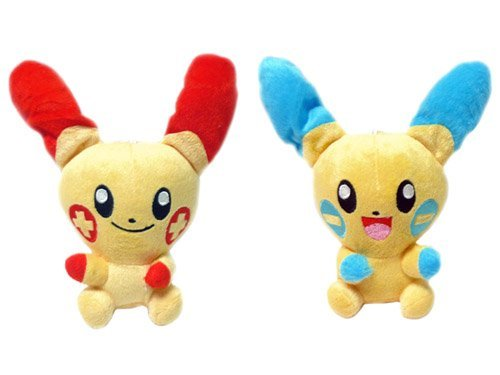 Pokemon: 7-inch Plusle & Minun Plush Set