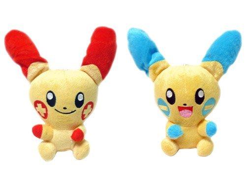 Pokemon: 7-inch Plusle & Minun Plush Set - 1
