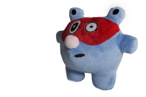 "Bubele Patch Buddies 7"" P-Jay Soft  Plush Toy Blue and Red With Blanket - 1"