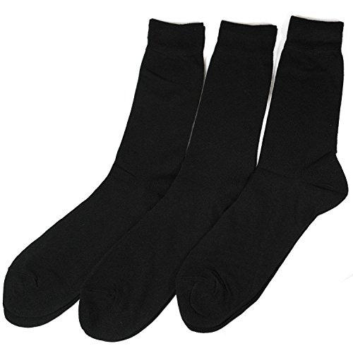 (ワイエヌエムビー)YNMB 3足組 メンズ 礼装用ソックス ビジネス 無地 25~26cm (ブラック) 紳士用 靴下