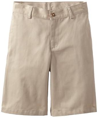 (快抢)Dockers Boys 8-20 Flat Front Short Regular Fit 男童休闲中裤Khaki,$5.85