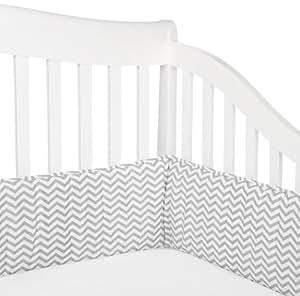 American Baby Company 100% Cotton Percale Crib Bumper, Zigzag Grey