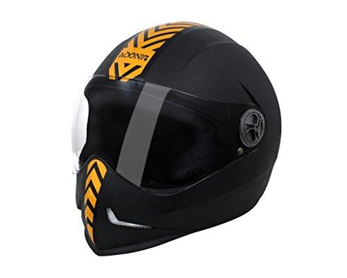 Steelbird Adonis Dashing Full Face Helmet with Golden Sticker (Black, L)