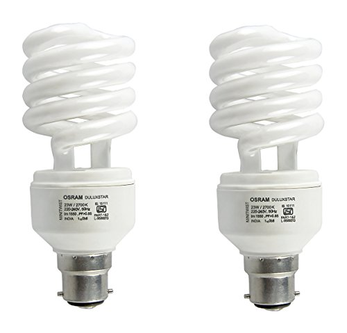 Spiral 23 Watt CFL Bulb (Cool Day Light,Pack of 2)