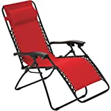 SummerWinds F5325OBKOX19 Oxford Red Fabric Zero Gravity Relaxer with Canopy