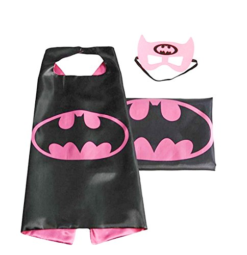 (Batgirl) ROXX Cape and Mask Costume for Child Superhero Superman Kids Girl And Boy