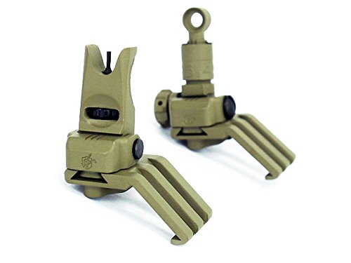 Airsoft Army Force 45 Degree Offset Front & Rear Sight Set Tan