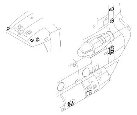 set d'extérieur de Boeing CH-47 Chinook (pour les maquettes Italeri)