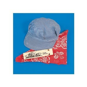 Little Train Engineer Conductor set - Hat, bandanna, and whistle
