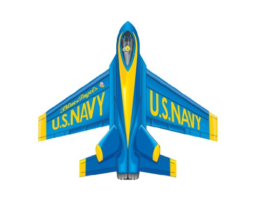 "WindNSun Microjet Mini Mylar 4.7"" Blue Angles Wide Kite"
