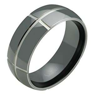 Black Wedding Rings For Him Image Unavailable Image Not Available For Color Sorry This Item Is Not