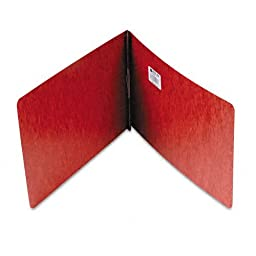 ACCO Pressboard Binder Report Cover, Prong Clip, Legal Size, 2-Inch Capacity, Red - 50 Each Per Pack