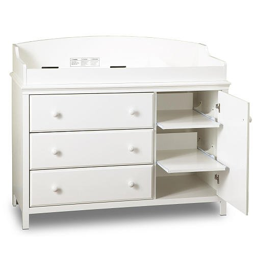 South Shore Cotton Candy Changing Table Pure White front-467507