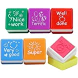 6X Teachers Stampers WELL DONE, SUPER, GREAT, NICE WORK, VERY GOOD, TERRIFIC